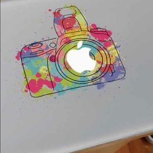 NWT DECAL Watercolor camera Vinyl Notebook sticker